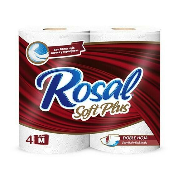 Papel Higienico Rosal Vinotinto Soft Plus 4 Rollos M
