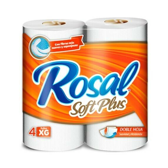 Papel Higienico Rosal Naranja Soft Plus 4 Rollos XG