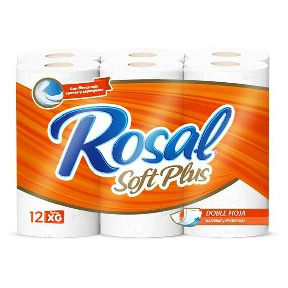Papel Higienico Rosal Naranja Soft Plus 12 Rollos XG
