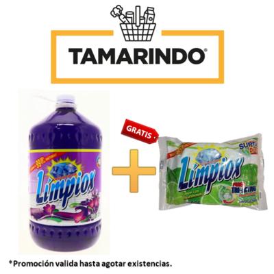 Promoción Desinfectante Limpiox Lavanda  Bote 5 litros + 1 súper disco lavaplatos Límpiox 225g GRATIS