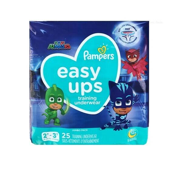 Pañales Pampers Easy-Ups Training Underwear Niño Talla 4 25 Conteo (2T-3T)