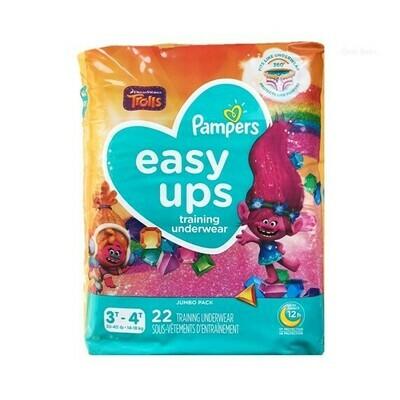 Pañales Pampers Easy-Ups Training Underwear Niña Talla 4 22 Conteo (3T-4T)