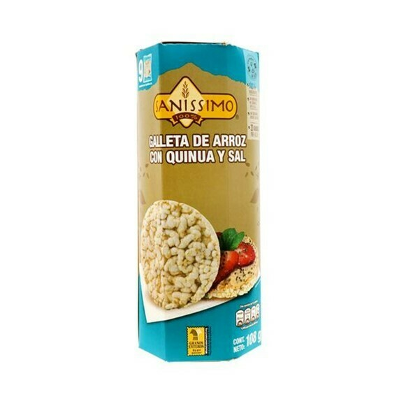 Galletas de Arroz Sanissimo Quinoa y Sal 108gr