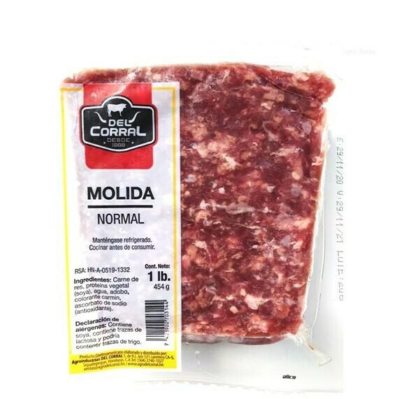Carne Molida de Res Normal Del Corral 1Lb