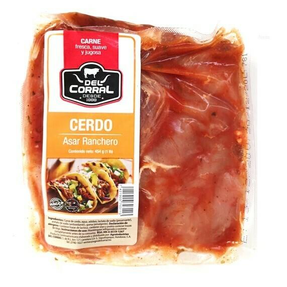 Carne De Cerdo Asar Ranchero 1Lbs  (Del Corral)