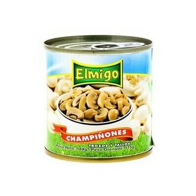 Champiñones Trozos y Tallos Elmigo 184 grs