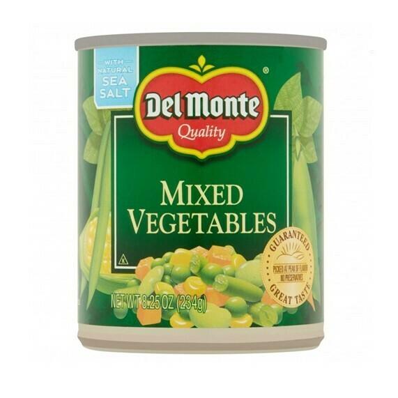 Vegetales Mixtos Del Monte 8.25oz (234 grs)