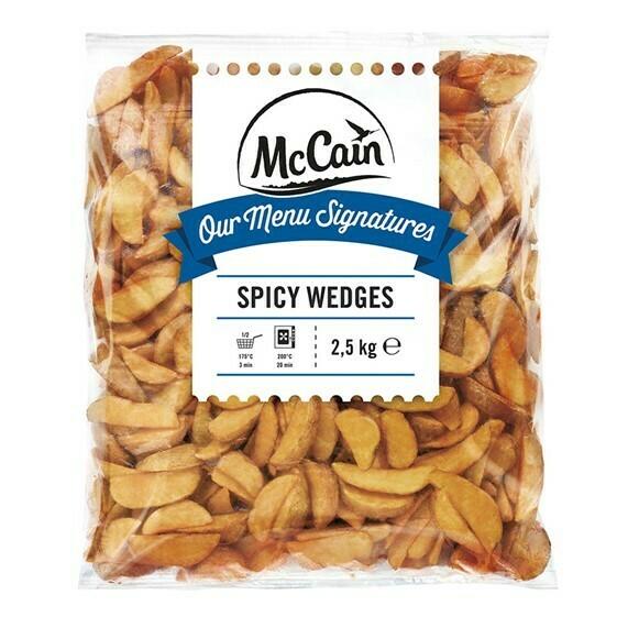 Papas Spicy Wedges 2.5Kg