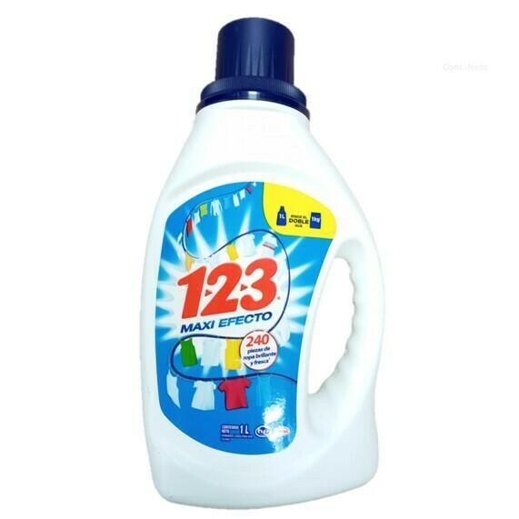 Detergente 123 Liquido Azul 1L