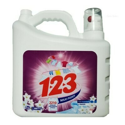 Detergente 123 Liquido Jazmin 8.3L