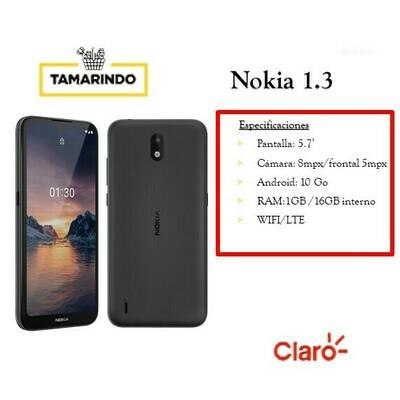 NOK Nokia 1.3 NG Negro (P)  Incluye Recarga de L.50
