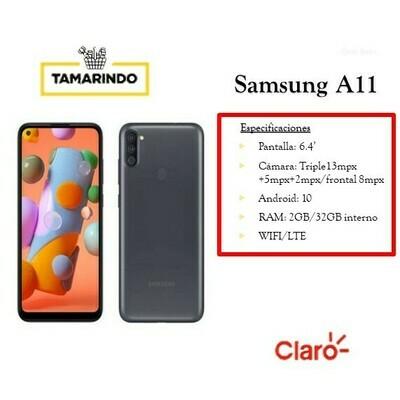 Samsung Galaxy A11 32GA115M NG Negro (P) Incluye Recarga de L.50