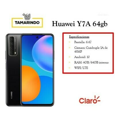 Huawei Y7A 64GB NG Negro (P)  Incluye Recarga de L.50