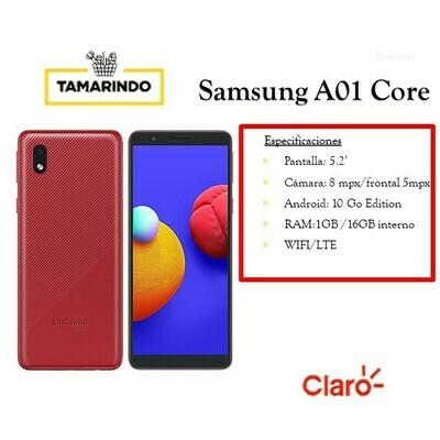 Samsung Galaxy A01 CORE16G RJ Rojo (P) Incluye Recarga de L.50