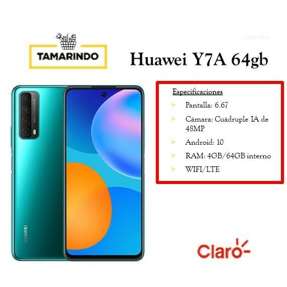 Huawei Y7A 64GB VR Verde (P)  Incluye Recarga de L.50