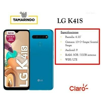 LG K41S32LMK410H AZ AZUL (P)   Incluye Recarga de L. 50