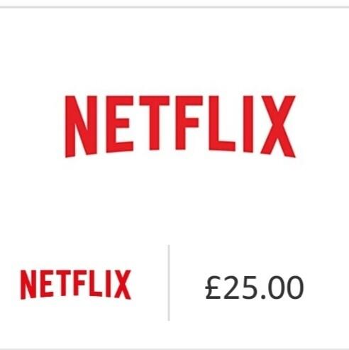Gift card Netflix £25