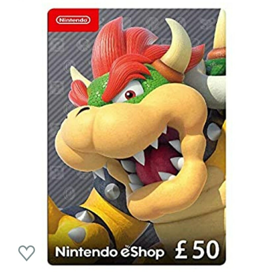 Nintendo Gift Card £50