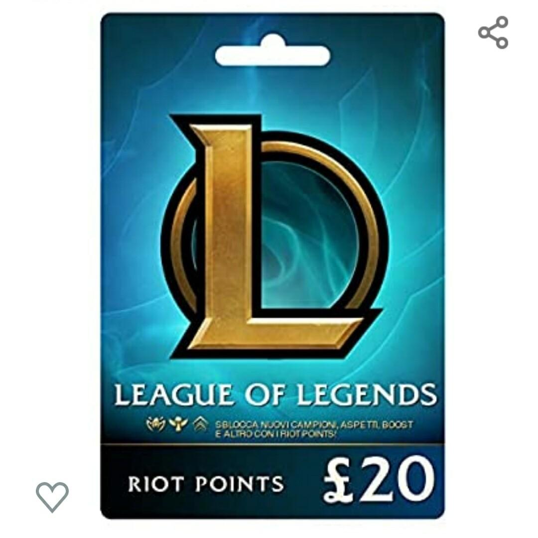 League Of Legends £20