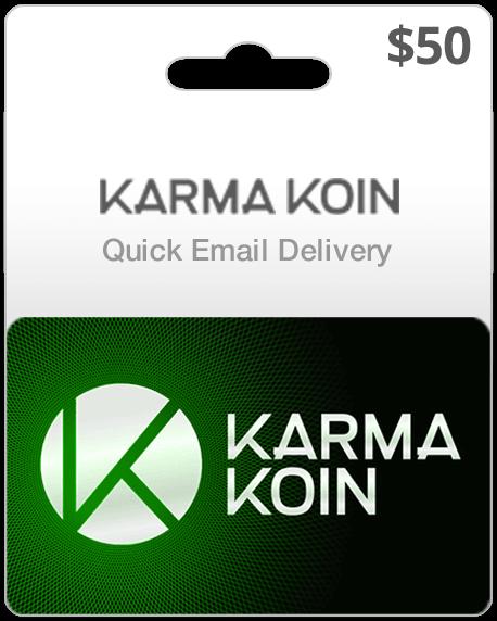 Karma Koin Game Card $50