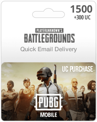 1500 +300 UC PUBG Mobile Gift Card