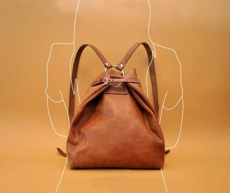 Riga backpack caramel color
