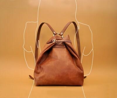 Riga backpack caramel color