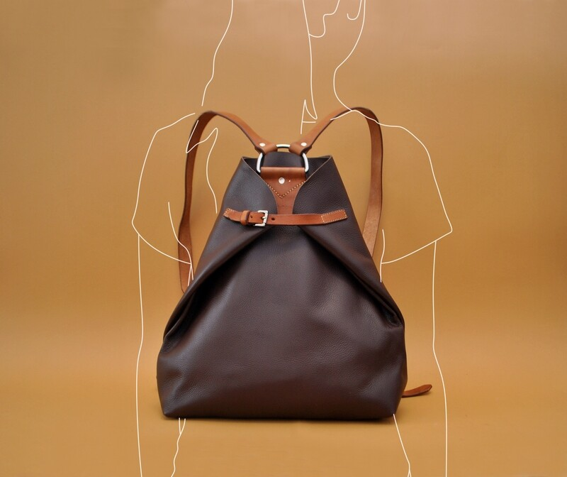 Riga backpack dark brown