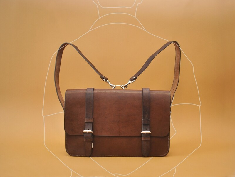 Madrid messenger bag/backpack dark brown