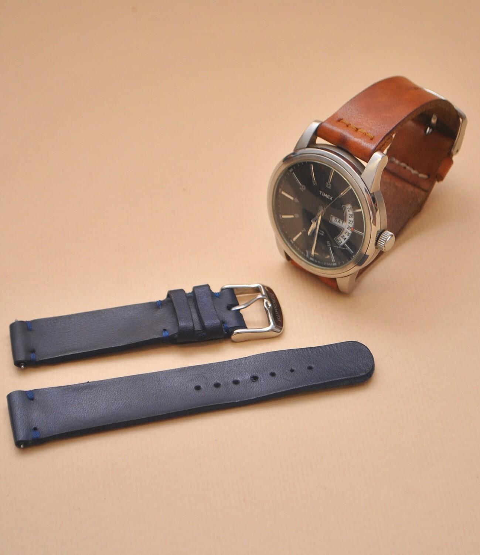Kožený řemínek k hodinkám / New Leather watch strap