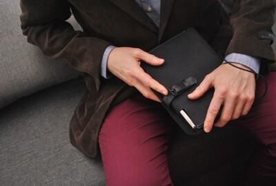Kožený obal na A5 zápisník/Moleskine black