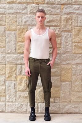 Tapered Zip Pocket Cargo Trouser
