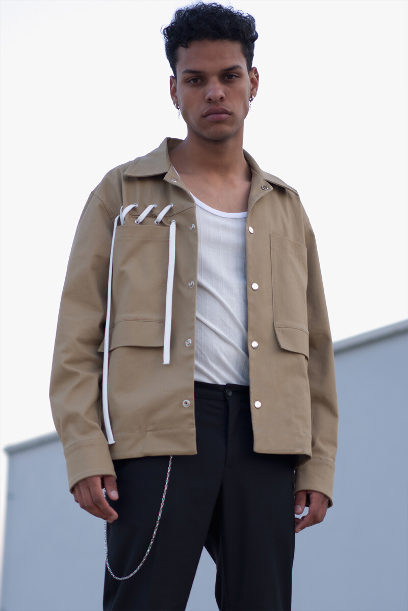 Laced Military Jacket