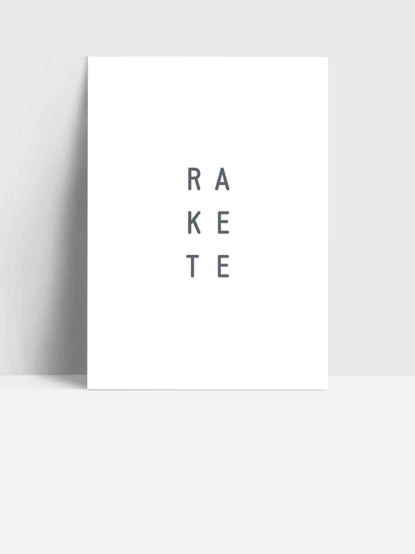 Postkarte RAKETE