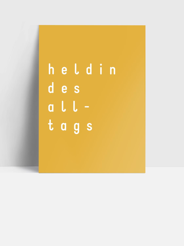 Postkarte HELDIN DES ALLTAGS