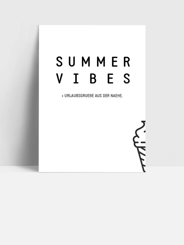 Postkarte SUMMER VIBES