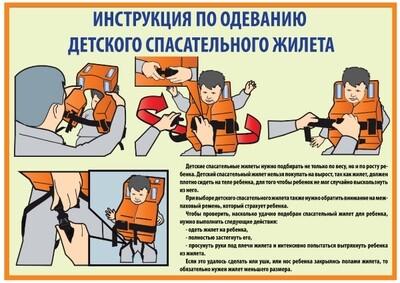 Инструкция по надеванию детского спасательного жилета