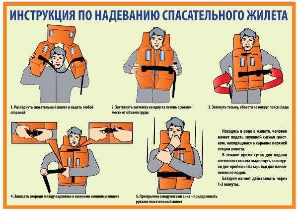 Инструкция по надеванию спасательного жилета