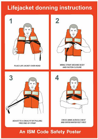 Инструкция по надеванию спасательного жилета (нагрудника)