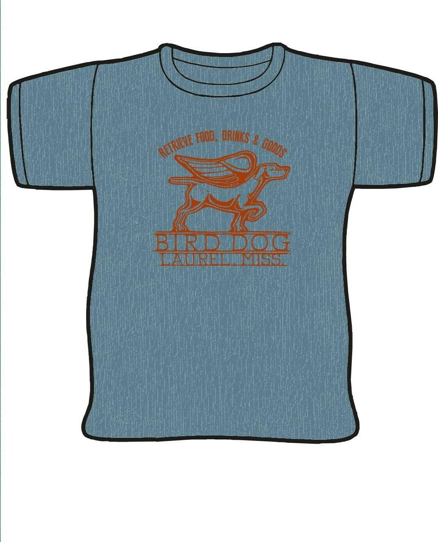 Blue and Orange Canvas Bird Dog T-Shirt