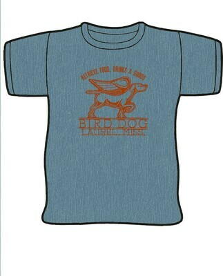 Blue and Orange Canvas Bird Dog T-Shirt