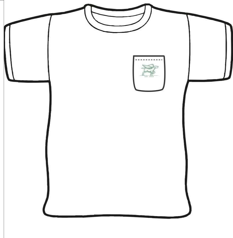 Bird Dog Cafe Restaurant Drawing T-Shirt w/ pocket