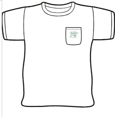Bird Dog Cafe Restaurant Drawing T-Shirt w/ pocket
