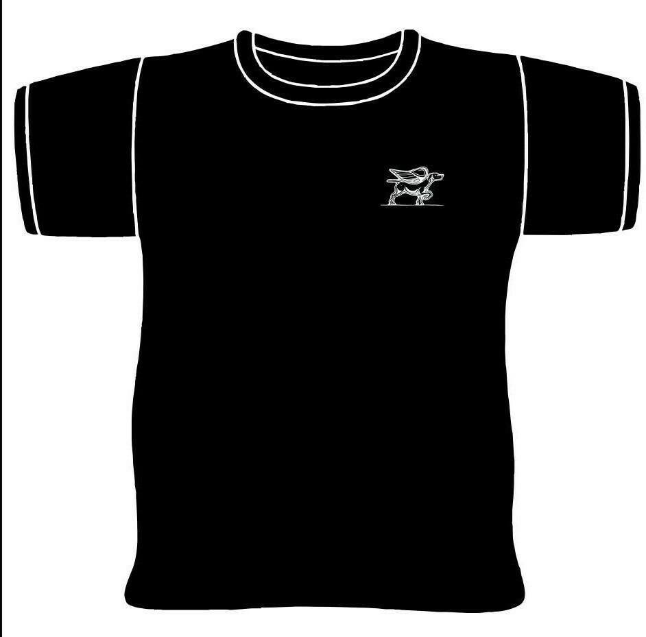 Black and White Bird Dog Logo T-Shirt