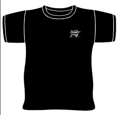 Black and White Bird Dog Logo T-Shirt
