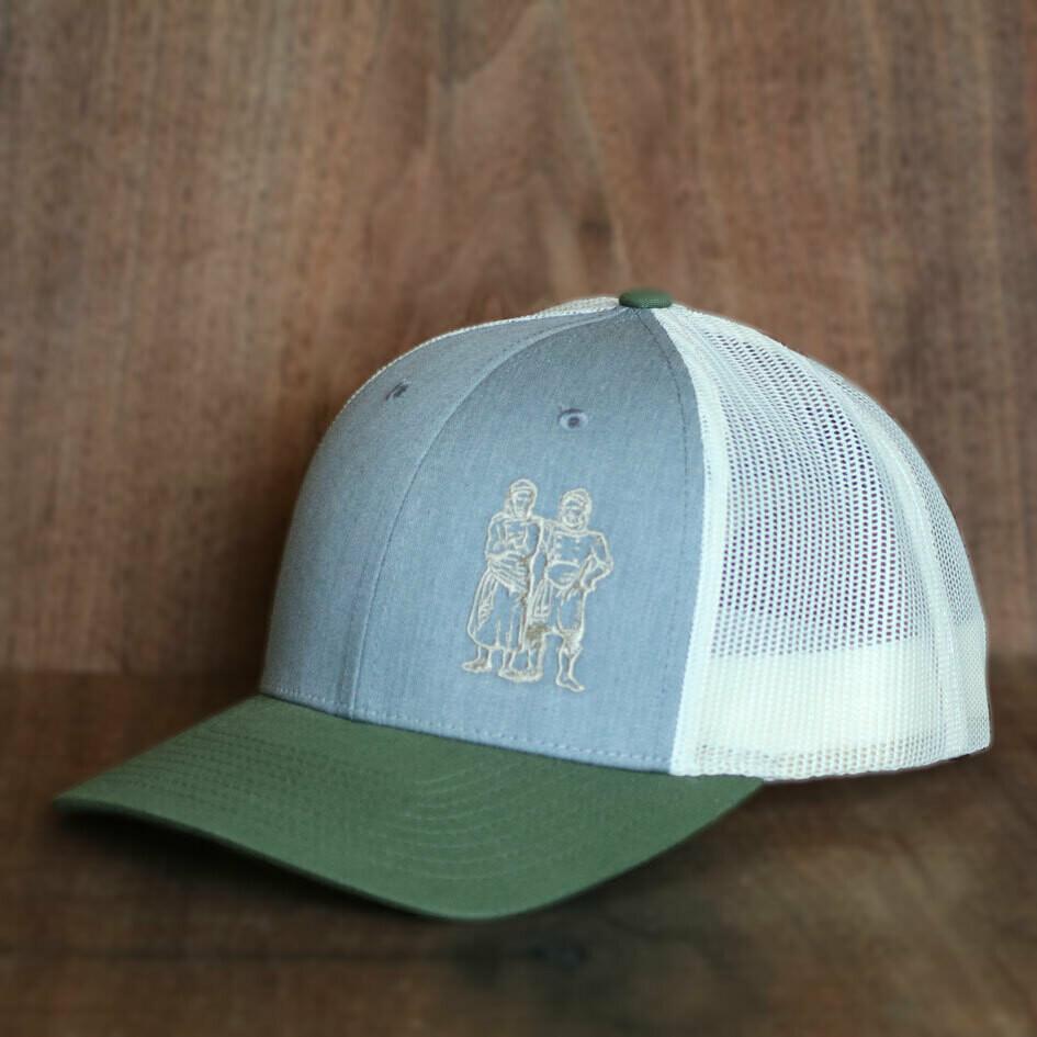 BWB Hat — Mesh Denim/Green