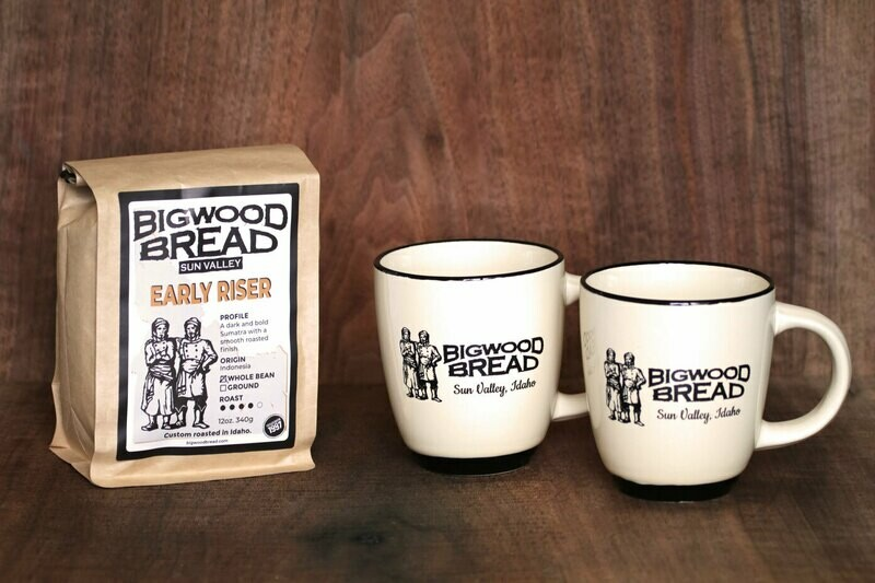 2 Coffee Mugs + Coffee Set