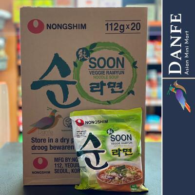 Nongshim Soon Veggie Ramyun Noodle Soup Ramen 112g (pack Of 20) Vegan