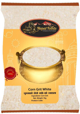 Corn Grit White मकैको चाख्ला 1kg Nepal Foods