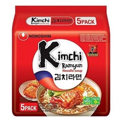 Nongshim Kimchi Noodle Soup 5x120g (5 Pack)